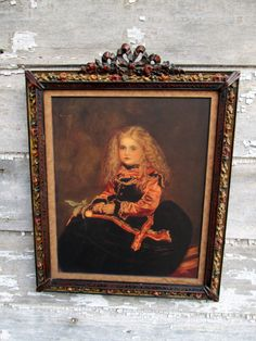Antique Victorian Portrait Print Medici Little by Holliezhobbiez, $68.00