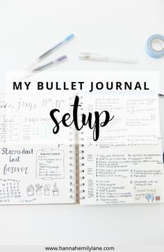 A walkthrough of my bullet journal setup and pages for inspiration and ideas | http://www.hannahemilylane.com