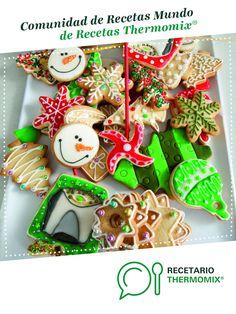 Galletas de Navidad (Galletas de Mantequilla) por Thermomix Vorwerk. La receta de Thermomix<sup>®</sup> se encuentra en la categoría Masas y repostería en www.recetario.es, de Thermomix<sup>®</sup> Canapes, Dessert Recipes, Desserts, Sugar, Cookies, Christmas Ornaments, Holiday Decor, Drink, Food