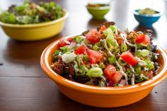 Layered Raw Taco Salad for Two — Oh She Glows