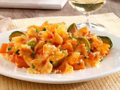 Barilla PLUS Farfalle with Barilla Tuscan Herb Sauce, Brussel Sprouts, Butternut Squash & Romano Cheese