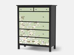 Designfolie White Blossoms Für Dein Hemnes Kommode 6 Schubladen