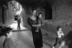 Ferdinando Scianna. Sicily, Italy. Province of Catania. Caltagirone. 1987. The Dutch model MARPESSA photographed for DOLCE & GABBANA