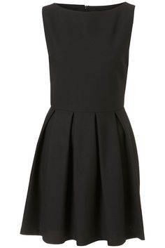 My TOPSHOP - Structured Sleeveless Skater Dress in Black