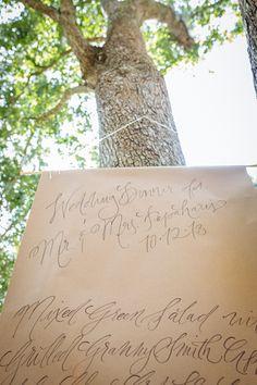 Menu banner // Sam // RiverOaks Charleston Wedding by Clay Austin ...