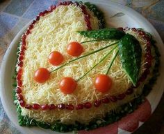 Chicken salad with cheese — Cooking Recipes Appetizer Recipes, Snack Recipes, Cooking Recipes, Amazing Food Decoration, Iran Food, Vegetable Snacks, Sandwich Cake, Food Garnishes, Valentines Food