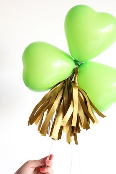 Balloon Wand DIY // St. Patrick's Day Style