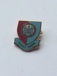 West Ham United FC Rare Old Vintage Shield Crest Pin Badge Memorabilia Gift WHU