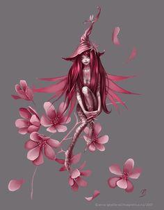Papierblumen dazu und Voila
