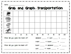 First Grade Garden: Math Stations - grab and graph