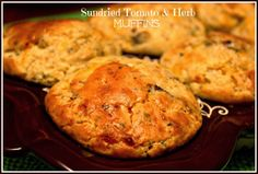 Sweet Tea and Cornbread: Sun-dried Tomato & Herb Muffins ~ Made with Bisquick.