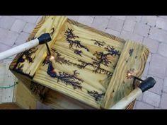 Wood burning with Lichtenberg figures - High voltage discharge tracks - YouTube