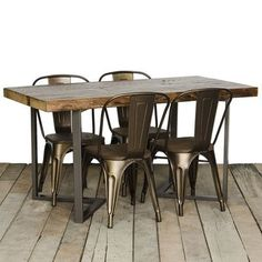 "Urban Wood Goods Dining Table Size: 30"" H x 36"" W x 72"" L, Top Finish: Espresso"