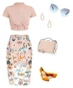 """""""Untitled #363"""" by lecoiffeur on Polyvore featuring River Island, Christian Louboutin, Kendra Scott and Mark Cross"""