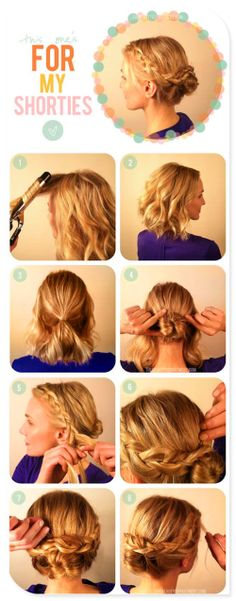 Bridesmaids hair possibility but maybe a flower or more curls to the bun!