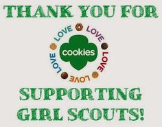 Girl Scout Cookie Thank You Cards. Printable