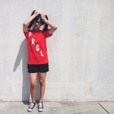 Tee Shirt PRGL [bunny hair style] #model #fashion #women #men #indonesia