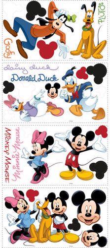 Mickey & Friends Peel & Stick Wall Decal (RMK1507SCS)