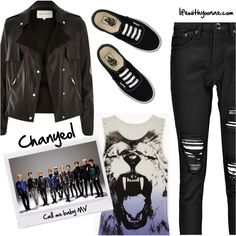 Chanyeol from EXO K Call me baby MV inspired by look Tomboy Outfits, Emo Outfits, Korean Outfits, Grunge Outfits, Girl Outfits, Cute Outfits, Teen Fashion, Korean Fashion, Womens Fashion