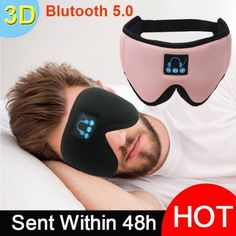 Sleeping Headphones Eye Mask Wireless Bluetooth v5.0 headset Save this photo on your board if you ❤️ it.