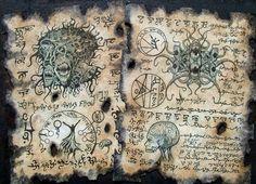 CULTO de YOG SOTHOTH Cthulhu larp arte oscuro de horror oculto de monstruos de lovecraft del Necronomicon