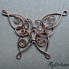Celtic Butterfly Pendant( Simplify this a little bit and mix copper/silver/bronze or brass)