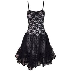Preowned 1980's Christian Dior Sheer Black Lace Mesh Crinoline Skirt... ($3,800) ❤ liked on Polyvore featuring dresses, black, cocktail dresses, transparent dress, flared dress, lace dress, mesh dress and slip dress