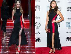 Nina Dobrev In Versace –  'Bridge Of Spies' New York Film Festival Premiere
