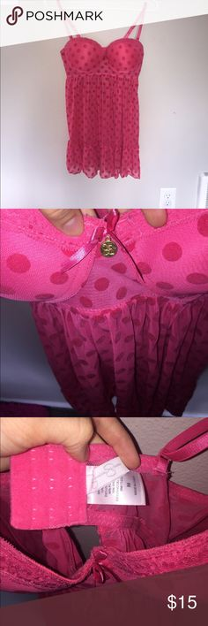 Jessica Simpson lingerie Super cute pinkish red color! Like new! Worn once! No flaws! Jessica Simpson Intimates & Sleepwear