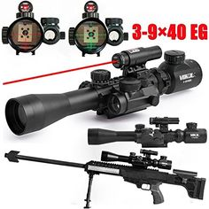 Scope Combo Illuminated Tactical Rifle Scope with Red Laser & Holographic Dot Sight for Hunting Guns Airsoft Hunting Scopes, Hunting Rifles, Red Dot Scope, John Russell, Red Dot Sight, Tactical Rifles, Rifle Scope, Guns And Ammo, Weapons Guns