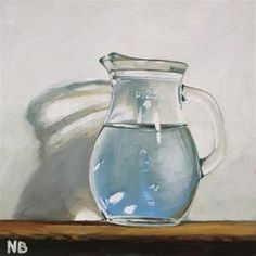 """""""Small Drink of Water"""" - Original Fine Art for Sale - © by Nora Bergman"""