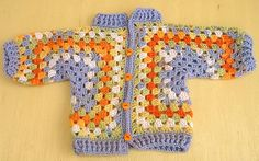 Ravelry: jaye-yarns' A.N. Other Hexagon Baby Jacket--link to free pattern