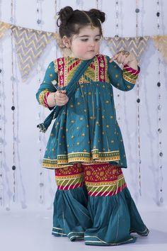 Frocks For Girls, Kids Frocks, Little Girl Dresses, Toddler Outfits, Kids Outfits, Kids Dress Wear, Girls Wear, Fancy Dress, Kids Blouse Designs
