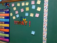 """Ms.Bond's Blog: """"So What"""" board for making meaningful connections - LOVE!"""