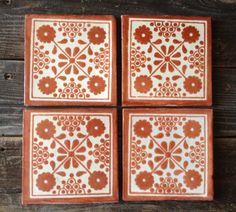 Matching Talavera Tile Coaster Set on Etsy, $24.00