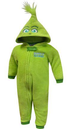 4fc9133b1 WebUndies.com Dr Seuss Grinch In Training Infant Onesie Pajama Baby Grinch,  Dr Seuss
