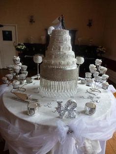 Cake Tables At Weddings