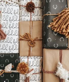 Christmas Mood, Noel Christmas, Merry Little Christmas, Simple Christmas, Christmas Crafts, Christmas Decorations, Minimalist Christmas, Modern Christmas, Christmas Gift Wrapping