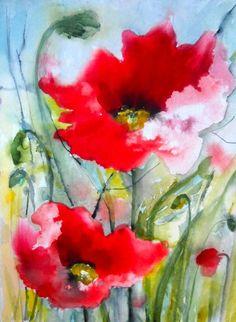 """Saatchi Art Artist Karin Johannesson; Painting, """"Poppies II"""" #art"""