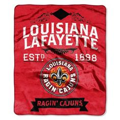 Northwest Co. Collegiate Louisiana Lafayette Label Raschel Throw