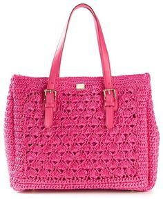 c843f56b3f047 Dolce   Gabbana  Alma  crochet knit tote on shopstyle.com Virkningsmaskor  Mönster