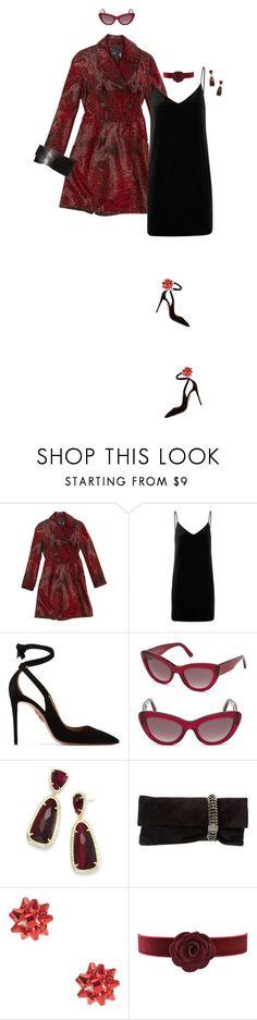 """Trendy: Slip Dresses!"" by prettynposh2 ❤ liked on Polyvore featuring Alaïa, rag & bone/JEAN, Aquazzura, Balenciaga, Kendra Scott, Jimmy Choo, velvet and polyPresents"