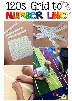 The Brown-Bag Teacher: A Lightbulb Moment: Transforming a Chart into a Number Line Teaching Numbers, Math Numbers, Teaching Math, Guided Maths, Teaching Skills, Teaching Ideas, Math Stations, Math Centers, Math Classroom
