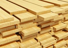 Illustration about Timberwork, lumber work and woodwork industry concept: macro view of stacks of wooden timber planks. Illustration of background, flooring, industry - 33718731
