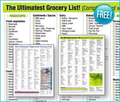 I love the free  The Ultimatest Grocery List because it saves me money! It even has a vegetarian version! Here is how: -Saves time gett...