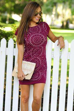 Cutout To Perfection Dress: Plum