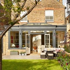 Garden room extension How to add a conservatory or sunroom Orangerie Extension, Orangery Extension Kitchen, Kitchen Orangery, Conservatory Extension, Cottage Extension, Conservatory Design, Kitchen Extension Exterior, Orangery Conservatory, Extension Designs