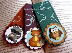 Olena Levchenko: Olena's Place for CottageBLOG: Bookmarks project - 2/23/15.  (Dies: Little Fox; Little Owl; Baby Raccoon; Filigree Clouds).  (Pin#1: Dies: Cottage Cutz.  Pin+: Animals...).