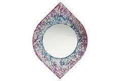 Decorative Mirror, Pink/Blue on OneKingsLane.com