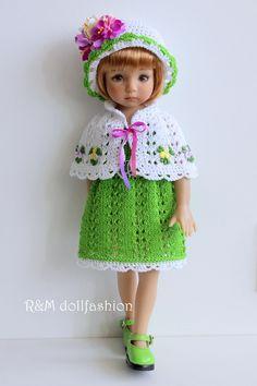 "R&M DOLLFASHION - OOAK ROMANTIC LINE outfit for LITTLE DARLING EFFNER 13"" dolls | eBay"